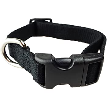 Organic Bamboo Dog Collar - Happy's Eco-Friendly Pet Collars Durable, Strong, and Washable. Safer and Softer Than Standard Nylon or Leather - Quality Guaranteed and We Donate!
