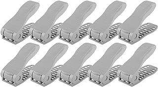 Zerone Shoe Slots Organizer, Double Layer Adjustable Shoes Slots Space Saver Shoes Storage Rack Shoes Holder, 10pcs (Grey)
