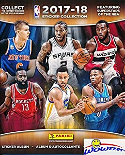 2017/18 Panini NBA Basketball HUGE 72 Page Stickers Collectors Album with 10 Bonus NBA Stickers including Russell Westbrook & Klay Thompson! Great Collectible to House all your NEW NBA Stickers!