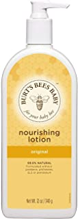 Burt's Bees Baby Nourishing Lotion, Original Scent Baby Lotion - 12 Ounce Bottle (Pack of 3)