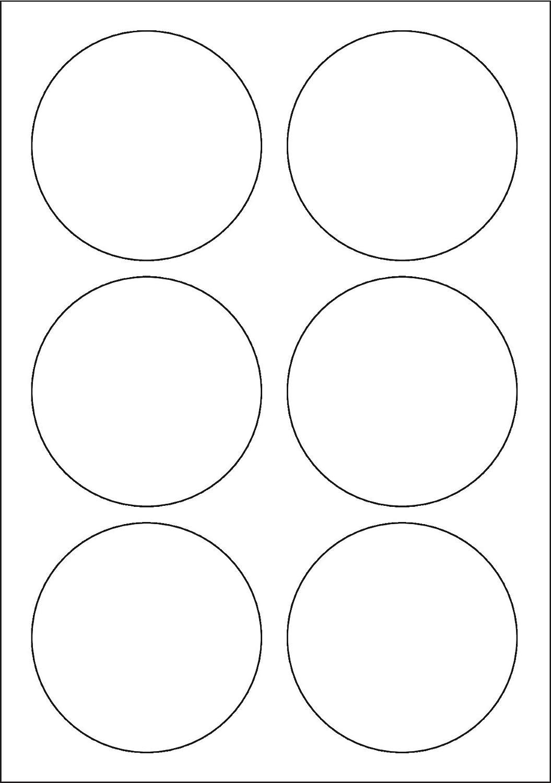 Multi Purpose Weiß Permanent Round Labels (85mm Diameter) - 6 Labels Per Sheet - 100 Sheets B00BXE6AQA  | Jeder beschriebene Artikel ist verfügbar