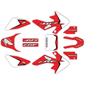 Fit 04-12 CRF50 Red FMF Graphic Kit Shroud Plastic Decal CRF 50 decal MX Sticker