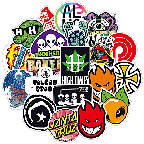 Lushi Doodle stickers suitcase laptop guitar bike car skateboard waterproof tide brand stickers (100 pcs)