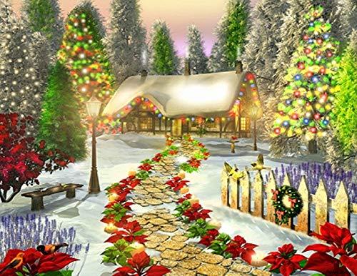 ZXXGA Kits De Pintura De Diamantes 5D para Manualidades_árbol de Navidad Diamond Painting 30x40cm_Bordado de Cristal para Manualidades Punto de Cruz Kit para la decoración del hogar