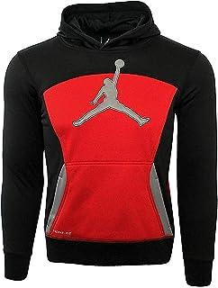 329f4b739acbcf Jordan Little Boys  Air Jumpman Therma-Fit Hoodie (Black Gym Red