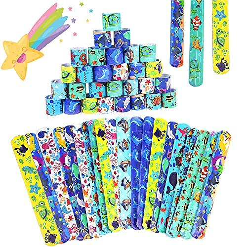 36Pcs Pulsera Bofetada HOUSTAR Pulseras de Juguete Slap Pulsera, Slap Bracelets, Banda de Pulsera Fiesta Cumpleaños de Infantil Rellenos de Bolsa de Fiesta para niños niñas