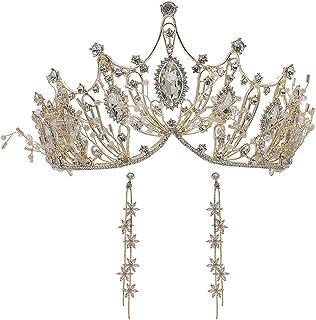YNYA Tiare Tiara Nuziale Barocco Matrimonio Principessa Corona Compleanno Femminile Gioielli da Sposa Accessori Abito da S...