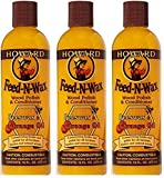 Howard FW0016 Feed-N-Wax Wood Polish and Conditioner, 16-Ounce (3-Pack)