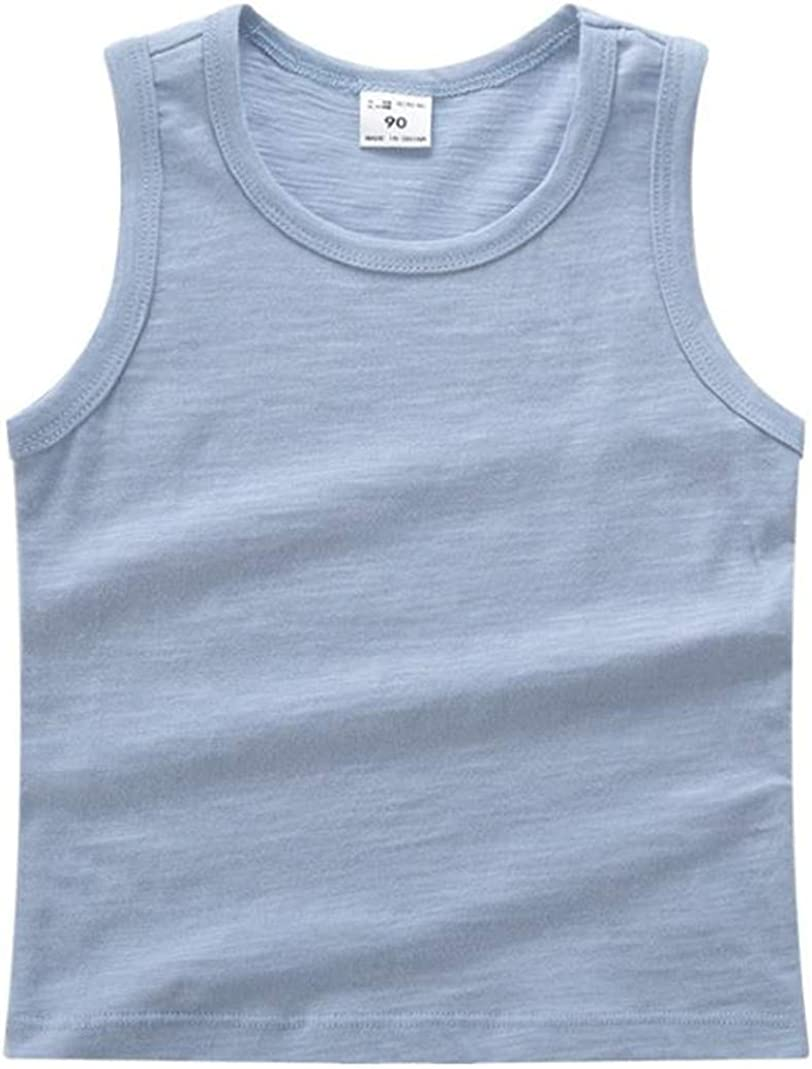 LOOLY Unisex Baby Boys Girls Sleeveless Cotton Tank Top Shirt Solid Color