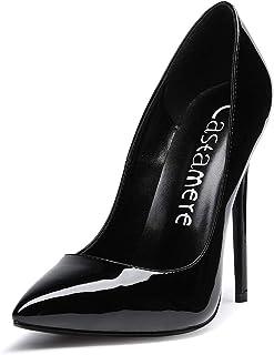 CASTAMERE Escarpins Femme Talon Doublure Noir Sexy Talon Haut Aiguille Bout Pointu High Heels Chaussures Stilettos Talons ...