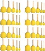 WFPLUS 40pcs 5 Sizes Round Paint Foam Sponge Brush Set Kids Painting Tools Sponge Stippler Set for Painting Crafts and DIY