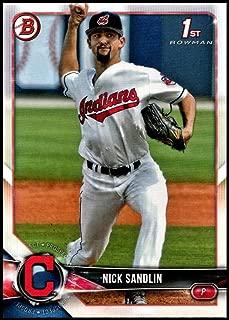 2018 Bowman Draft #BD-34 Nick Sandlin RC Rookie Cleveland Indians MLB Baseball Trading Card
