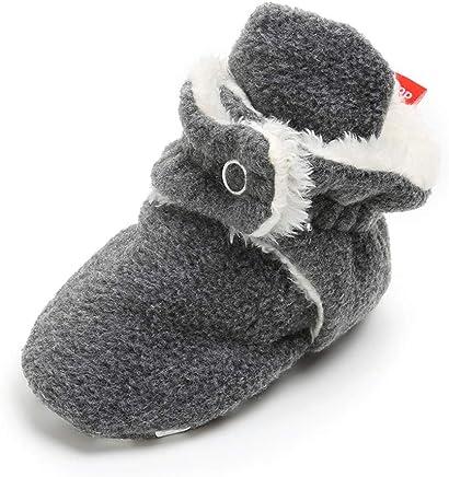 RVROVIC Baby Boys Girls Cozy Fleece Booties Non Skid Bottom Warm Winter Socks