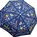 Cheeky Chunk 3 fold Music Doodle Monsoon Fashion Designer Umbrella