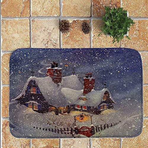 OHQ Feliz Navidad Bienvenido Felpudos Interior Casa Alfombras DecoracióN 40x60CM Cubierta De La Silla Alfombras De...
