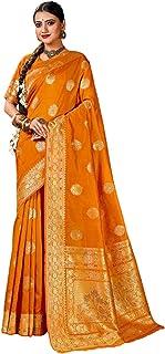 Indian Traditional Party Women Silk Sari festival Pink Rich Zari Weaving pallu Saree Blouse 6315