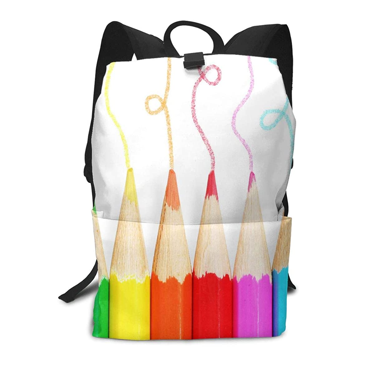 Backpack Colored Pencils Fantastic Shoulders Bag Classic Lightweight Daypack for Adults