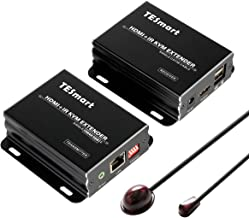 TESmart KVM Extensor 120M HDMI Repetidor 1080P sobre TCP/IP Cable único Cat5e / cat6 Cable IR Remoto (1 Sender y 1 Receptor)