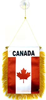 AZ FLAG Canada Mini Banner 6'' x 4'' - Canadian Pennant 15 x 10 cm - Mini Banners 4x6 inch Suction Cup Hanger