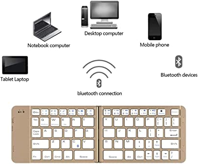 SONGYANG Folding Bluetooth Keyboard Bluetooth Faltbare Tastatur Keyboards tragbare Ultra-d nne Mini drahtlose Tastatur f r iOS Android Windows-PC Tablet Smartphone Errichtet Gold Schätzpreis : 34,35 €