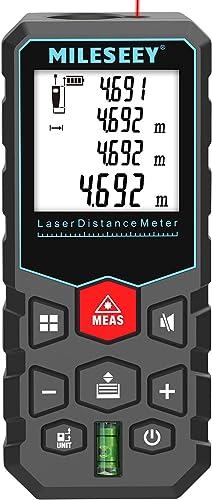 Misuratore Laser 40m, MiLESEEY Metro Laser Professionale precisione ± 2 mm, misurazione del volume/Area/Lunghezza/Dis...