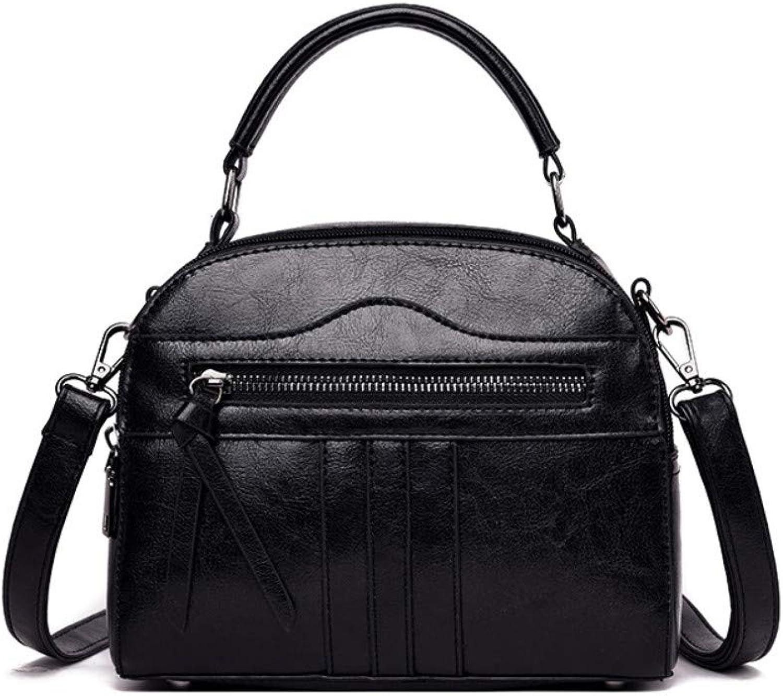 Xbowobag PU-Frauentasche neue Retro- Ölwachslederhandtaschen beiläufige Damen B07QH1JS1S  Clever und praktisch