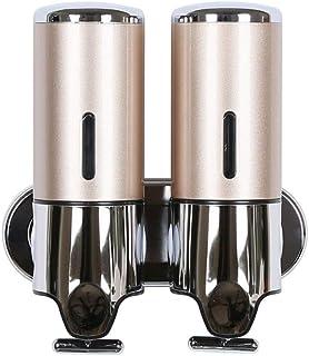 N/C Lotion Dispenser Double Stainless Steel Soap Dispenser Soap Liquid Box Household Bathroom Sink Shower Gel Bottle Soap ...
