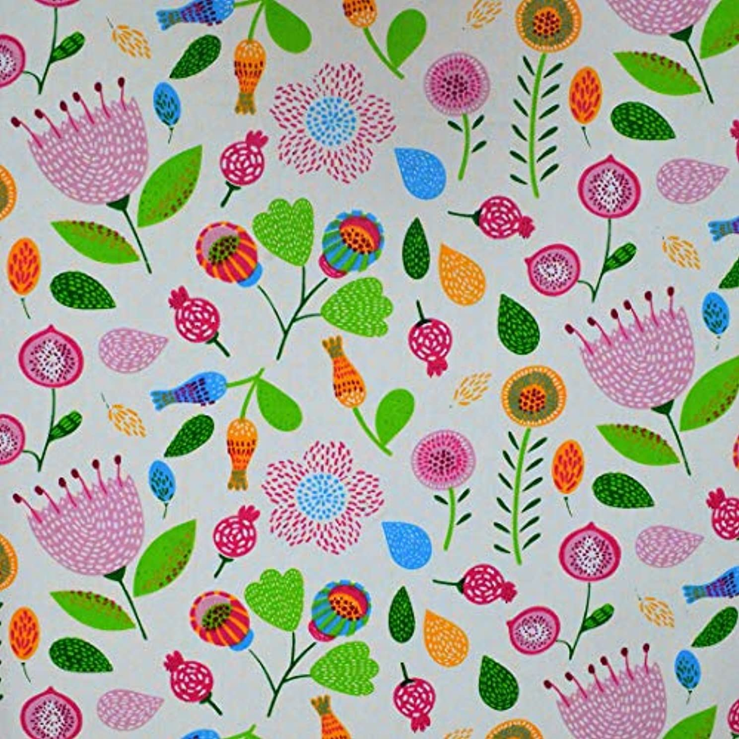 iNee Pink Flower Quilting Sewing Fabric by The Yard, 100% Cotton, 2 Yards