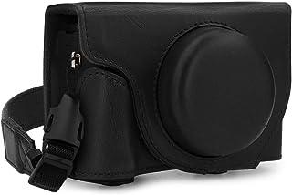 MegaGear Ever Ready Leder Kameratasche mit Trageriemen kompatibel mit Canon PowerShot G5 X Mark II