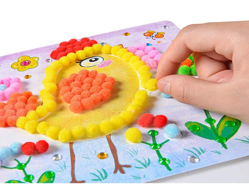 Easecube Cute Mini-Wool Ball with Scrapbook Popular overseas Sale Special Price Diamond Crafts Kids
