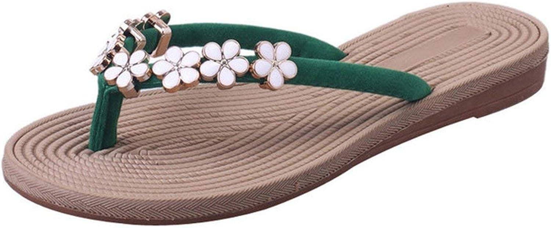 April With You Women Summer Straw Flip Flops Flower Flip Flop Flats shoes Home Slippers Sweet Beach Sandals