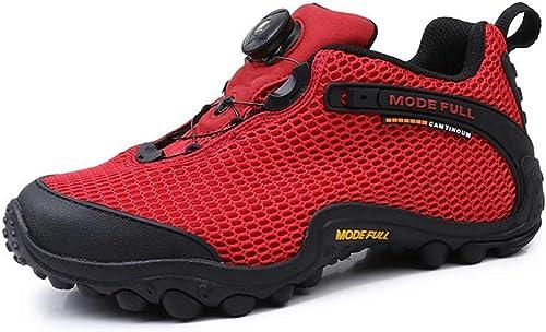 ZFLIN zapatos de senderismo de malla transpirable zapatos de senderismo al aire libre-rojo-37