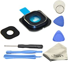 Ewparts Back Rear Camera Glass Lens Cover Ring Repair Replacement + Adhesive for Samsung Galaxy S6 Edge G925 (All Carriers)+Opening Tools (Blue)