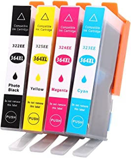 Sairun 364XL Ink Cartridge Replacement with for Deskjet 3070A 5510 6510 B209a C510a C309a Printer, 4Pack (BK/C/M/Y)
