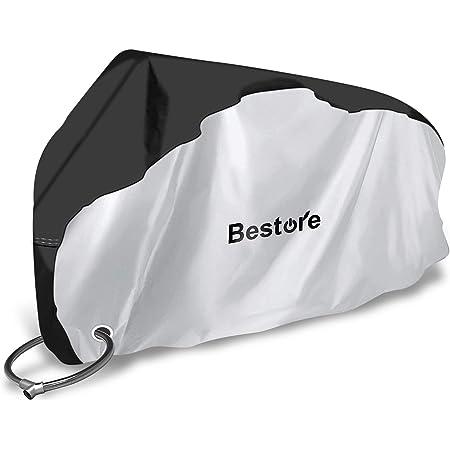Bestore 自転車カバー 防水 厚手 雨よけ 子供 盗難防止 防風 UVカット サイクルカバー 29インチまで対応 420Dオックス 収納袋付き