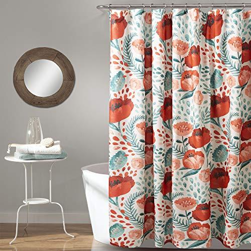 "Lush Decor, Multi Poppy Garden Shower Curtain, 72"" x 72"""