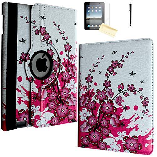 JYtrend Case for iPad 2, iPad 3, iPad 4, Rotating...