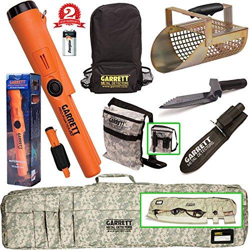Garrett propointer bei Unterwasser Pinpointer + Camo Softcase + Edge Bagger + Sand Scoop + Rucksack + Bagger 's Tasche