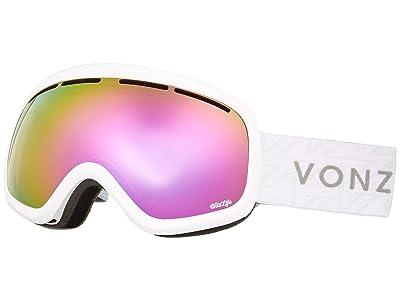 VonZipper Skylab Goggle (White Gloss/Wild Pink Chrome Lens) Snow Goggles