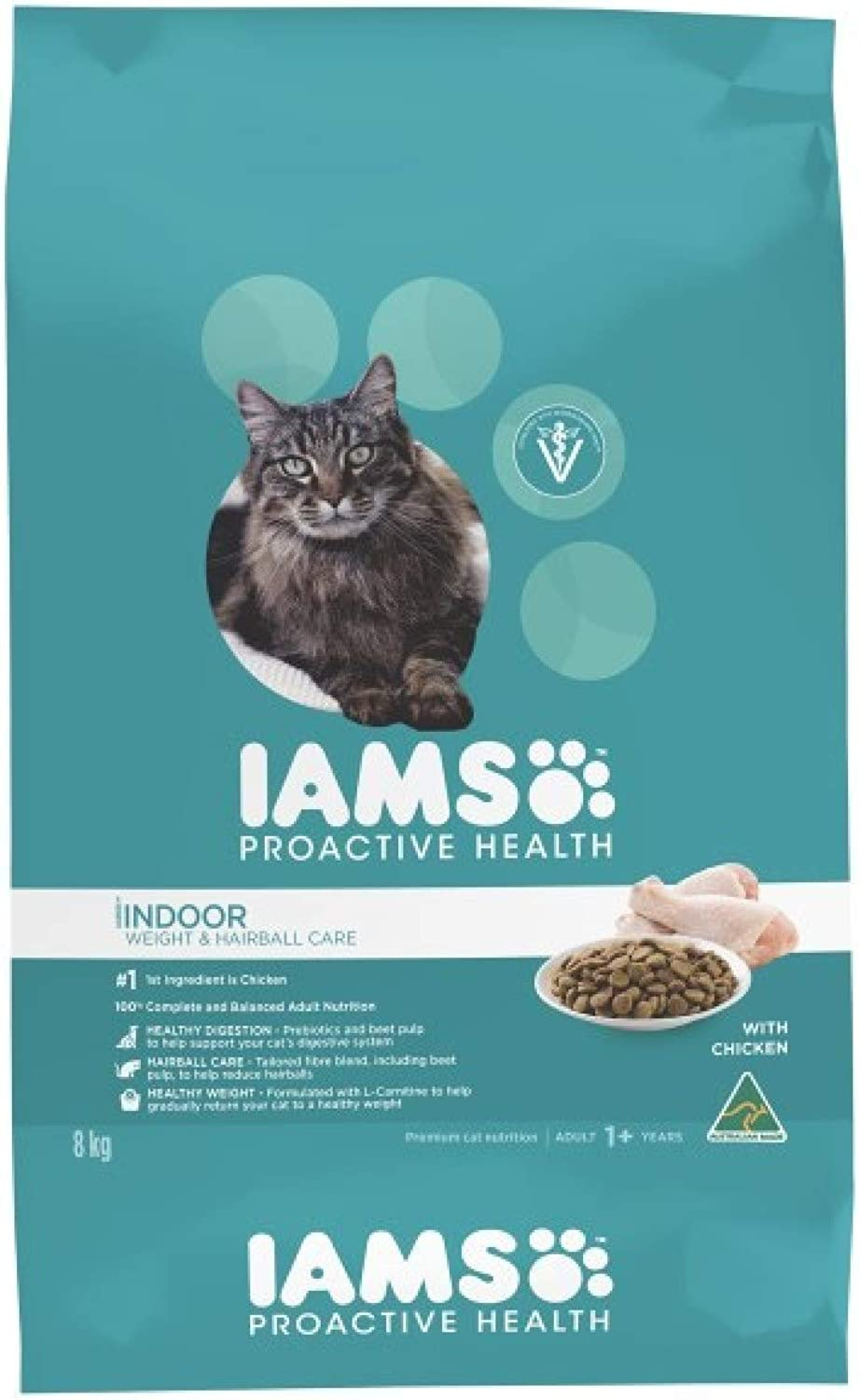 Lass Cat Adulti Indoor Weight Hairball  cken 8kg (CIAIWHC8)