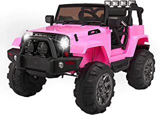TOBBI Kids Ride on Truck Style 12V Battery Powered Electric Car W/Remote Control Pink