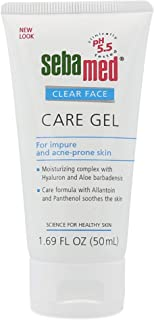 Sebamed Clear Face Care Gel (50mL) with Aloe Vera and Hyaluronic Acid for Impure and Acne Prone Skin - Made in Germany