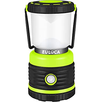 euloca 超高輝度 LEDランタン 明るさ1200ルーメン 電池式 4つ点灯モード切替 昼白色と暖色, 無段階調光 キャンプ 登山 釣り 防災 停電 緊急 非常用