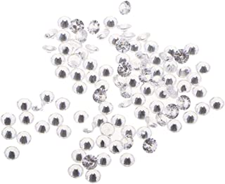 IPOTCH 100pcs Cuentas de Cristal de Circón Transparente DIY Manualidad Accesorios - Blanco
