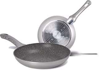 Aeternum y00set0227Essential juego bis de sartenes 24/28cm, adecuado A La Inducción, Aluminio, Silver