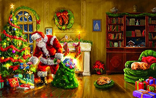 Santa's Special Delivery 550 pc Jigsaw Puzzle by SunsOut - Christmas Puzzle