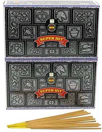 Satya Nag Champa Super Hit – Varillas de incienso, 24 Packs