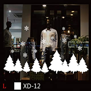 iZHH Christmas Window Stickers Removable Wall Stickers Decals DIY Home Decor Glass Door Showcase Stickers Decoration for Christmas New Year Santa Claus