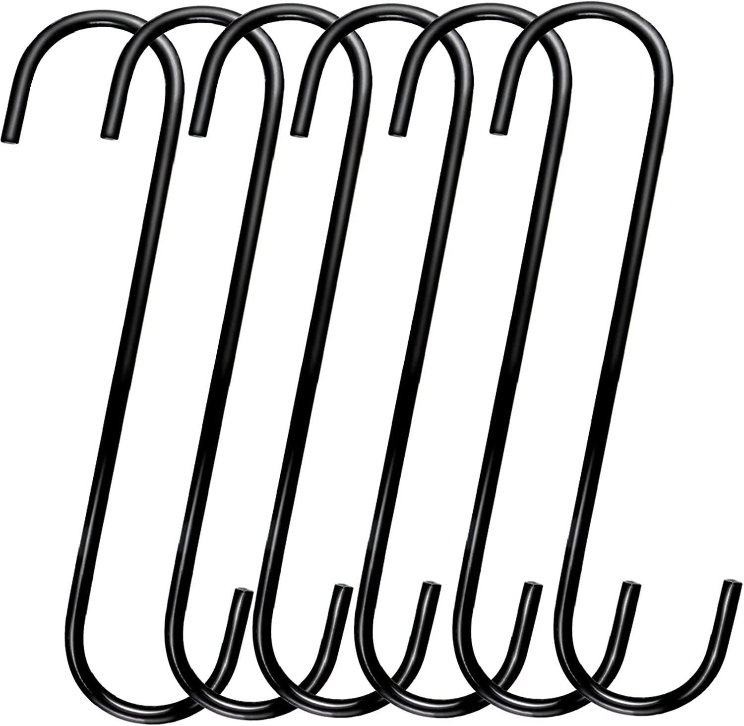 DINGEE 8 Inch S Hooks Heavy Duty Metal Online limited product 6 Pack Large Shap Directly managed store Extra
