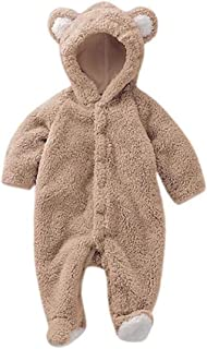 fluffy bear onesie baby